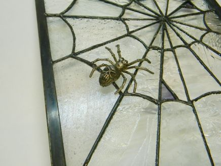 Pewter spider